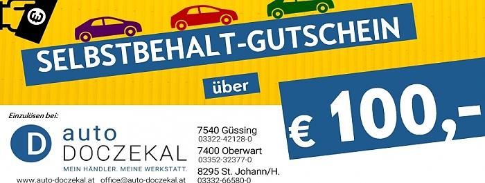 100,- Euro Selbstbehalt-Guschein!