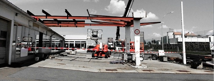 Umbau Auto Doczekal in GÜSSING startet!